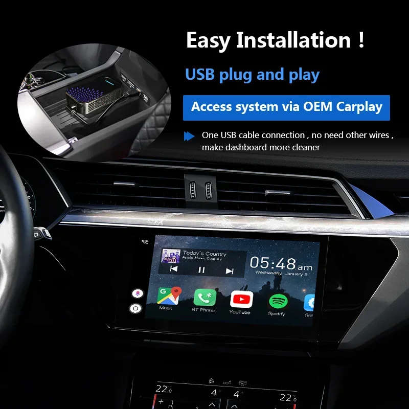 Навигационный блок Carmedia AS-CP31 Ford CarPlay