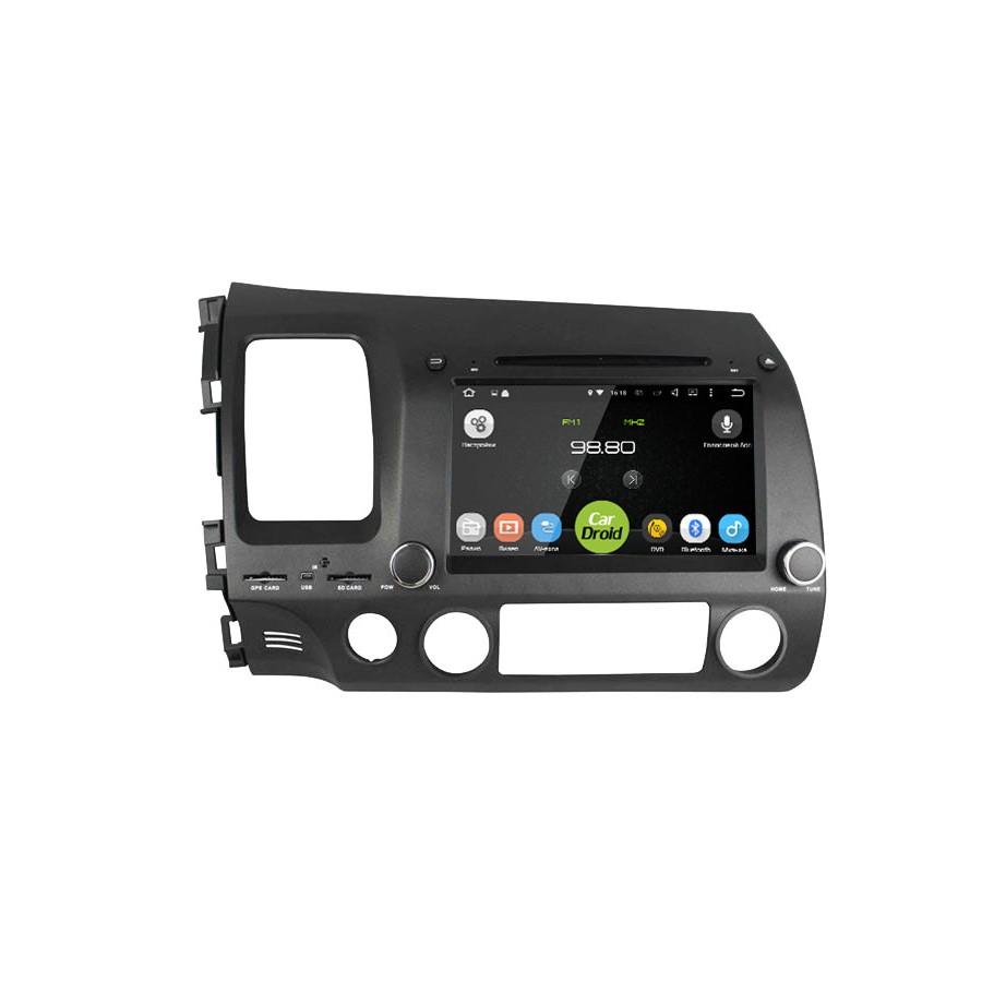 Штатная магнитола roXimo CarDroid Android RD-1901D Honda Civic 4