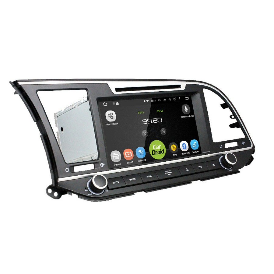 Штатная магнитола roXimo CarDroid RD-2016 Hyundai Elantra 2016+