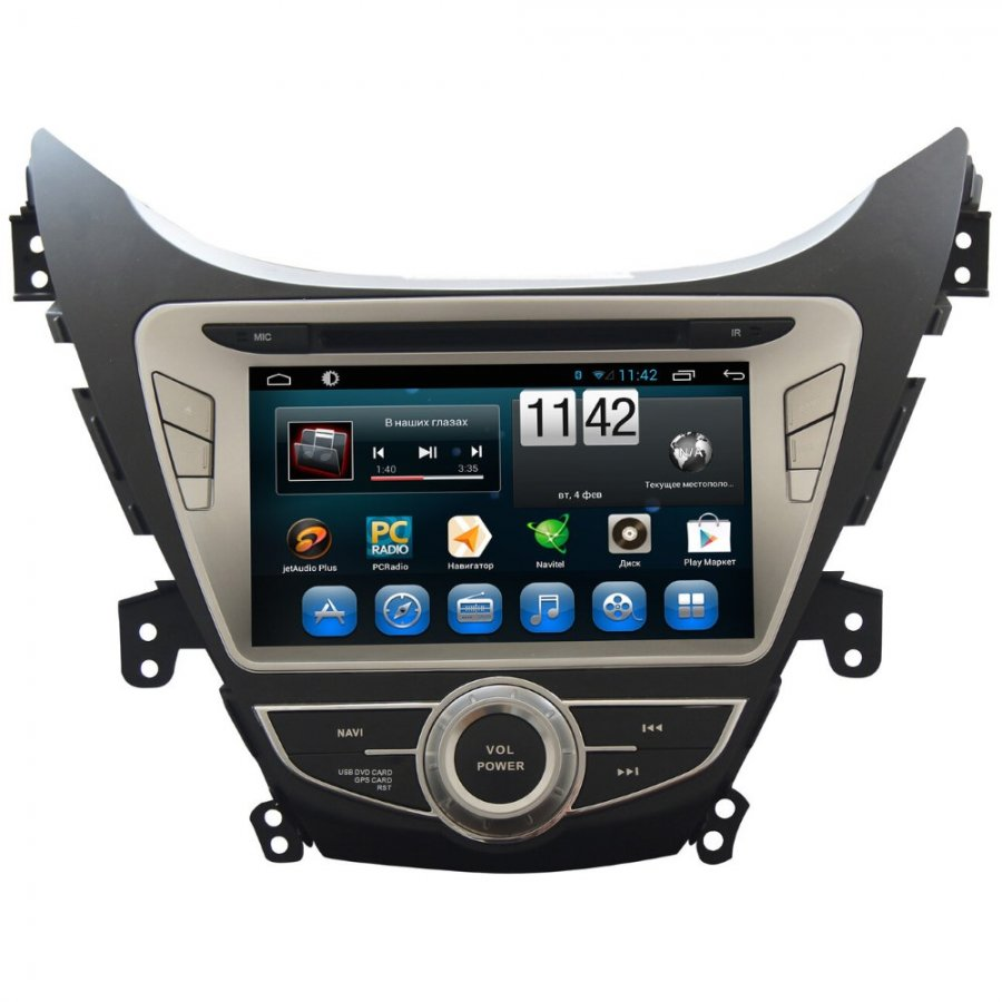 Штатная магнитола CarMedia KR-8011 T8 Hyundai Elantra 2011-2012