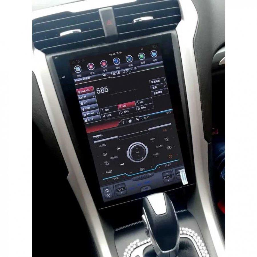 Магнитола в стиле Tesla Carmedia ZF-1201-S2-DSP Ford Mondeo 5